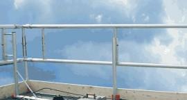 Dakrandbeveiliging Aluminium per m1