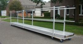 Aluminium loopbrug 6.1M